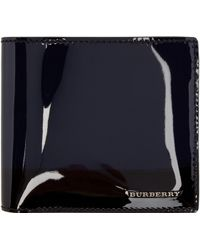 Burberry Prorsum - Navy Patent Leather Wallet - Lyst