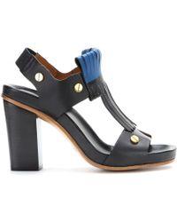 Chloé Erika Leather Sandals - Lyst