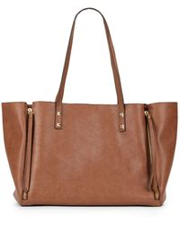Saks Fifth Avenue Lola Quilted Faux Leather Tote - Lyst