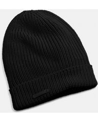 COACH Merino Knit Hat - Black