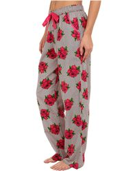 Betsey Johnson Flannel Pant - Lyst
