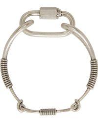 KTZ - Silver Wire Bracelet - Lyst