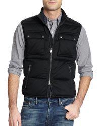 Ralph Lauren Black Label Jersey Moto Vest - Lyst