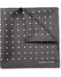 Turnbull & Asser Polkadot Silk Pocket Square - Lyst