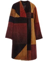 Thakoon Ombre Coating Patchwork Coat - Lyst