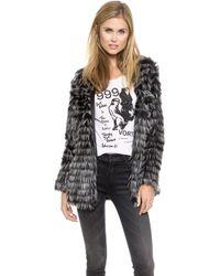 Glamorous Fringed Coat - Black