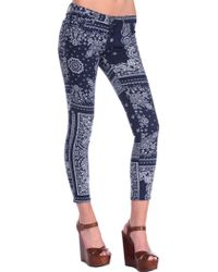 AG Adriano Goldschmied Legging Ankle blue - Lyst