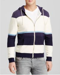 Threads For Thought - Wide Stripe Zip Up Hoodie - Lyst