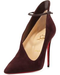 Christian Louboutin Vampydoly Suede Pumps - Purple