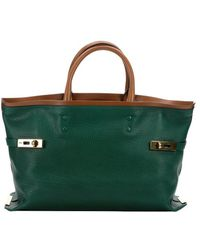 Chloé Racing Green Leather 'Charlotte' Large Tote Bag - Lyst