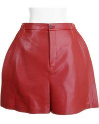 Junya Watanabe Shorts red - Lyst