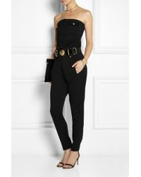 Versus  Anthony Vaccarello Strapless Wool Jumpsuit - Lyst