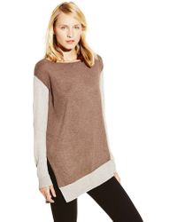 Vince Camuto Colorblocked Sweater - Lyst