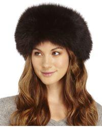 Surell Real Fox Fur Headband - Brown