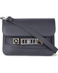 Proenza Schouler Ps11 Mini Leather Shoulder Bag Grey - Lyst