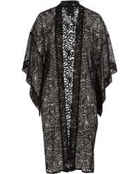 Anna Sui Embroidered Kimono black - Lyst