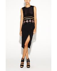 Nicole Miller Gilded Ankh Crop Top - Lyst