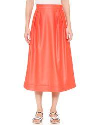 Cg - Mid Length Circle Skirt - Lyst