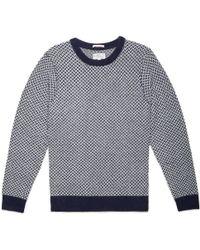 Gant Rugger | Blue Tuck Stitch Sweater | Lyst