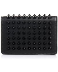 Christian Louboutin Milos Spikes Leather Wallet - Lyst