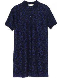 MSGM Navy Lace Dress - Lyst