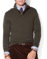 Ralph Lauren Polo Patterned Mockneck Sweater - Lyst