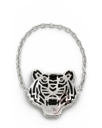 KENZO - Mini Tiger Ring - Silver - Lyst