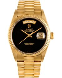 CMT Fine Watch And Jewelry Advisors Rolex Daydate President with Black Onyx Dial - Metallic