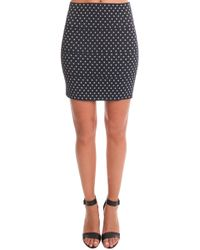 Pleasure Doing Business | Printed Rubber Mini Skirt | Lyst