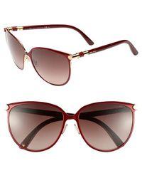 Jimmy Choo 'Juliet' 60Mm Cat'S Eye Sunglasses - Lyst