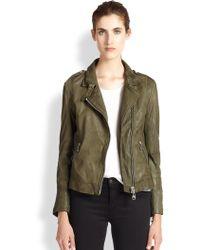 Doma Leather Moto Jacket - Lyst
