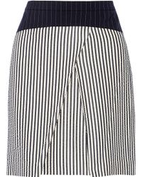 Vera Wang Striped Woven Skirt - Lyst