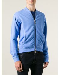 DSquared2 Blue Printed Cardigan - Lyst