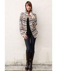 Goddis Max Hooded Knit Jacket brown - Lyst
