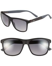 Gucci 56Mm Polarized Retro Sunglasses - Lyst