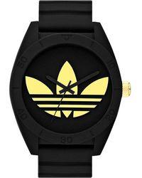 adidas Originals - 'santiago Xl' Silicone Strap Watch - Lyst