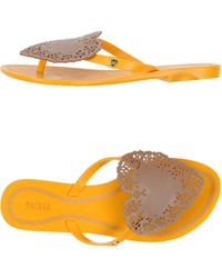 Melissa Thong Sandal yellow - Lyst