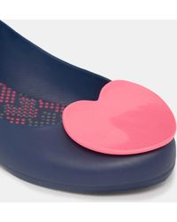 Mel by Melissa Pop Heart Navy Flat Shoes - Blue