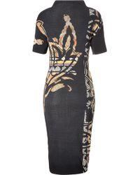 Etro Wool Printed Knit Dress - Lyst