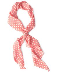Ana Accessories Inc Bow To Stern Scarf In Pink Dots - Lyst