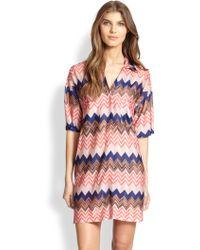 Missoni Mare Chevron-Print Shirt Dress - Lyst