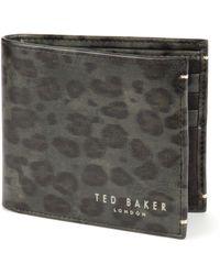 Ted Baker Leopard Print Bi-Fold Wallet - Lyst