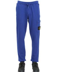 Stone Island Garment Dyed Cotton Jogging Pants - Lyst