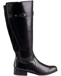 Vaneli For Jildor Ramex Tall Boot Black Leather - Lyst