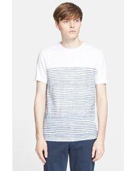 Vince Trim Fit Slub Stripe Crewneck T-Shirt - Lyst