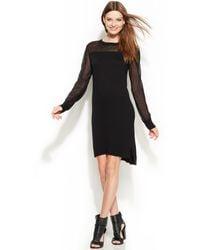 DKNY Longsleeve Illusion Sweater Dress - Lyst