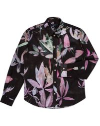 Paul Smith Black Digital Floral Print Shirt - Lyst