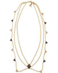 Isharya - Op Art Pyramid Quartz Necklace - Lyst