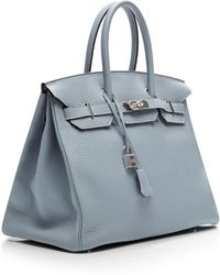 Heritage Auctions Special Collection Hermes 35cm Blue Lin Clemence Birkin - Lyst