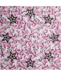 Givenchy | Square Scarf 140cm X 140cm Roses & Stars | Lyst